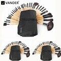 Vander Profissional 3 Lots/32 Pcs Pincéis de Maquiagem Conjunto Fundação Cosméticos Pó Facial Escovas Compõem Escovar Kits de Higiene saco