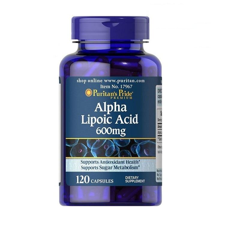 Alpha Lipoic Acid 600 mg 120 capsules Free shipping usa alpha lipoic acid ala 100 mg 120 caps free shipping