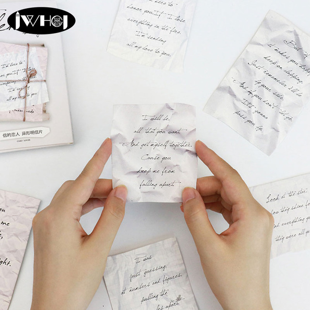 30 Pcs English Letters Postcard Paper Card Bookmark Valentine S Day
