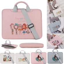 Fashion PU Tahan Air Tas Bahu Laptop 13 14 15.6 Notebook Tas Messenger Membawa Case untuk Macbook Pro Udara Asus Dell HP Acer(China)