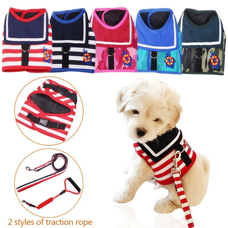 7 Colors Dog Harness Vest Air Nylon Mesh Pet Dog Harness Puppy Teddy Collar For Small Dogs Products 30 Dog Clothing & Shoes