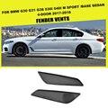 Углеродное волокно боковое крыло вентиляционные отверстия отделка автомобиля Стайлинг для BMW 5 серии G30 G31 G38 530i 540i M спортивная база Седан 4 д...
