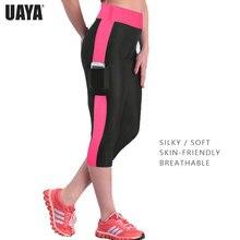 UAYA S-5XL Workout High Waist Yoga Pants Tummy Control Side Gym Running Fitness Women Cute Jogging Femme Sport Leggings
