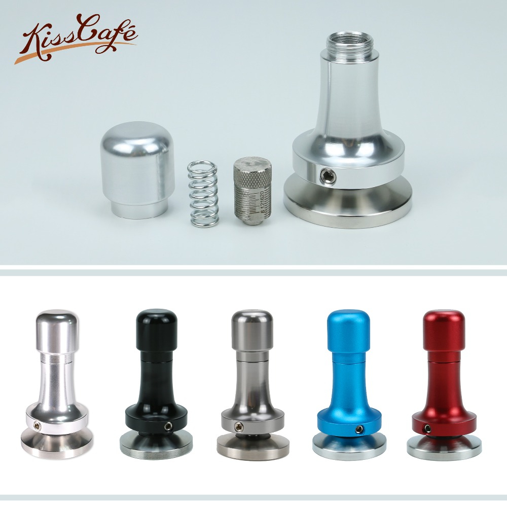 51mm 53mm 57mm 58mm Coffee Tamper Elasticity Adjustable 304 Stainless Steel Aluminum Handle Pressure Hammer Coffee Accessories
