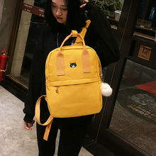 New Women Backpack for School Teenagers Girls Vintage Stylish School Bag Ladies Canvas Fabric Backpack Female Bagpack Mochila