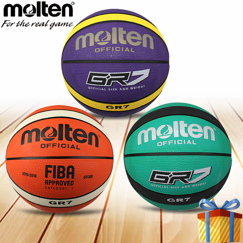 Tamanho de uma bola de basquete Molten 7 balon oficial de treinamento homem  ballon de cesta bca074f1a0985