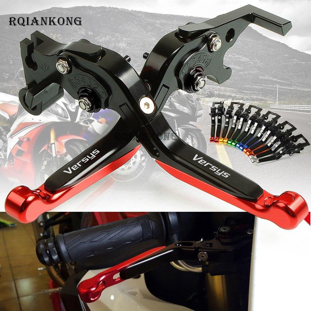 Pour Kawasaki VERSYS1000 VERSYS 1000 2012-2018 moto moteur CNC aluminium réglable pliable extensible freins embrayage leviers