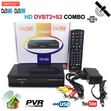 dvb-t2 dvb s2 Terrestrial Satellite receptor TV Receiver Combo tv tuner HD 1080P Decoder H.264/MPEG-4 TV Box for spain Russia