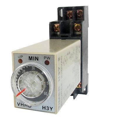 0-60 Minute H3Y-2 Time Relay AC220V/AC110V/DC24V/DC12V 8 Pins Power On Time Delay Timer genuine taiwan research anv time relay ah2 yb ac220v