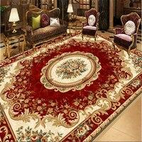 Vintage Red European Style Carpet Patterns Floor Paintings 3D Paintings 3D Waterproof Self Adhesive Floor Paintings