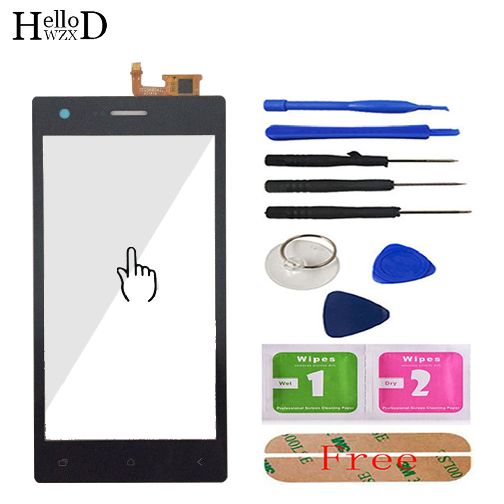 Mobile Touch Glass TouchScreen For Micromax Canvas Q413 Touch Screen Front Glass Digitizer Panel Sensor Tools Free Adhesive