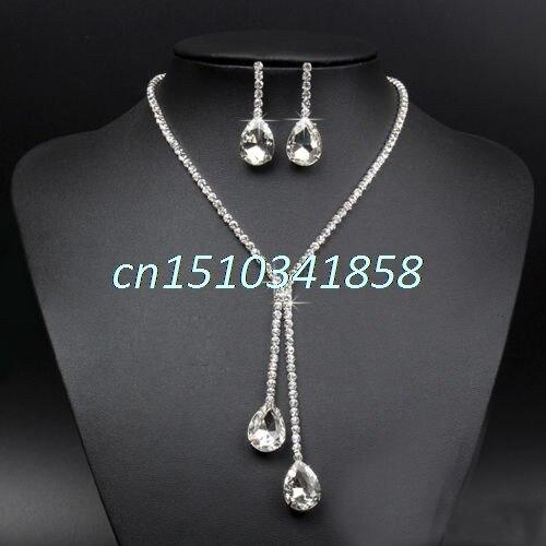 Новое Женское Ожерелье Серьги с покрытием набор украшений для