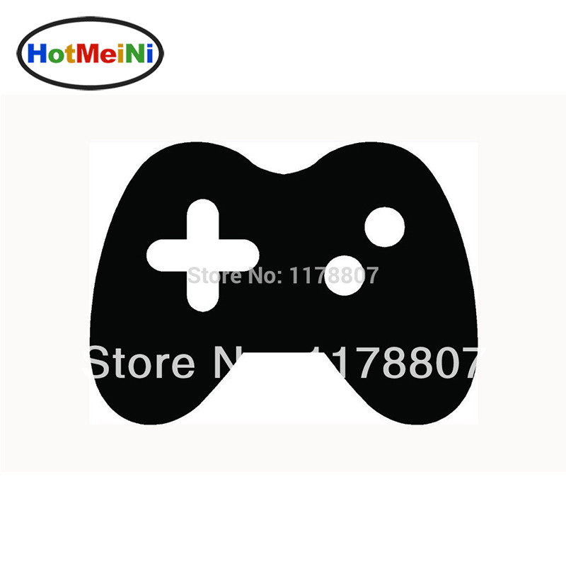 "HotMeiNi4.2*3""  Wholesale VIDEO GAME CONTROLLER Car Sticker Icon for Car Window Vinyl Decal Joystick Console Pad Black/Sliver"