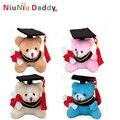 7 cm llavero oso de Peluche De la graduación con 4 colores juguetes de Peluche al por mayor 40 unids/lote