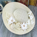 Natural Linen Ivory Wedding Bridal Hat Fine Garden Bridal Take Photo Hair Accessory Bride Mother Special Occasion Party Hat