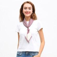 Women Square Hair Scarf Silk Head Neck Scarves Tie Band Fashion Elegant Skinny Retro Stripe Small