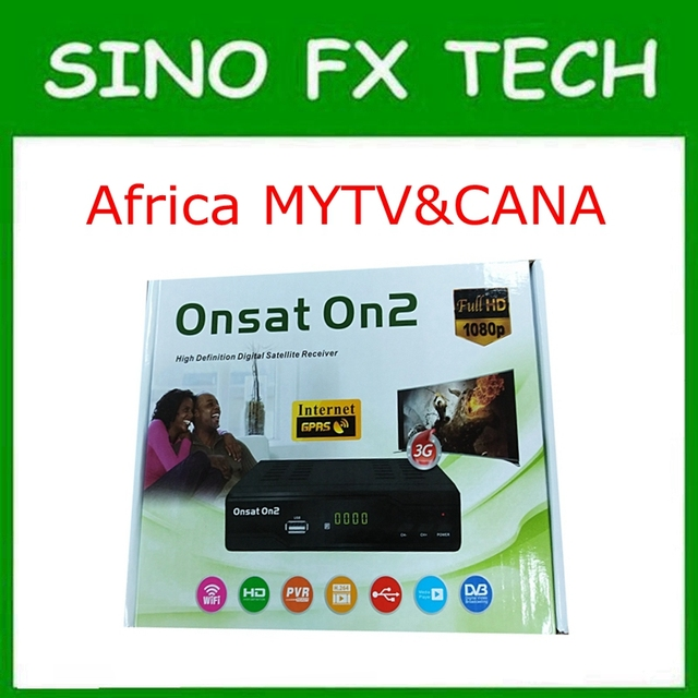 US $55 0  New arrival Africa mepg4 gprs DVB S2 decoder with 6 months Tcam  account open MYTV & French channels Onsat On2-in Satellite TV Receiver from