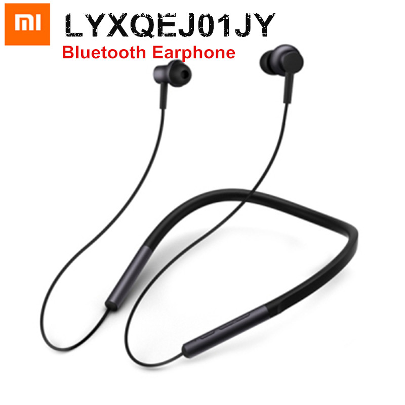 2018 New Original Xiaomi Mi Bluetooth Neckband Earphone Sports Wireless Apt-x Hybrid Dual Cell With Mic Earbuds for Android IOS