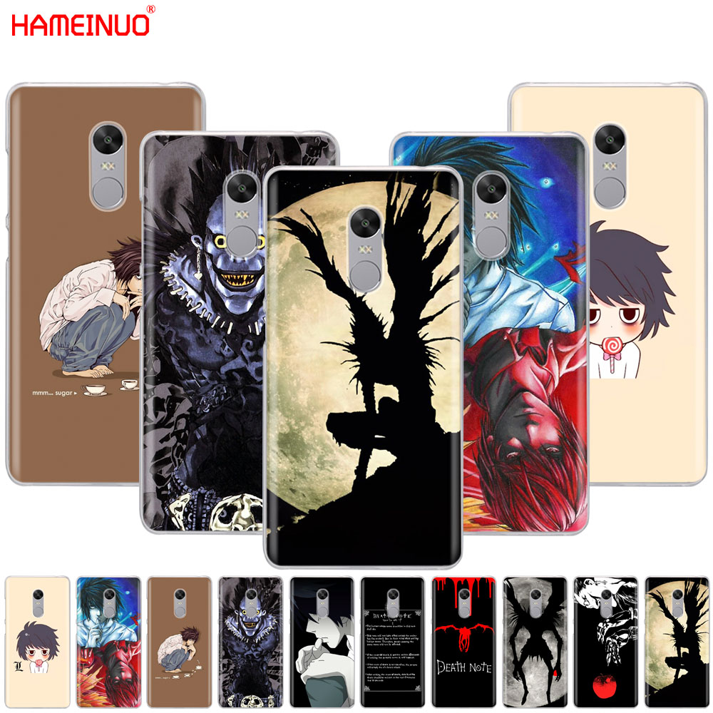 HAMEINUO Anime Death Note Cover phone  Case for Xiaomi redmi 5 4 1 1s 2 3 3s pro PLUS redmi note 4 4X 4A 5A