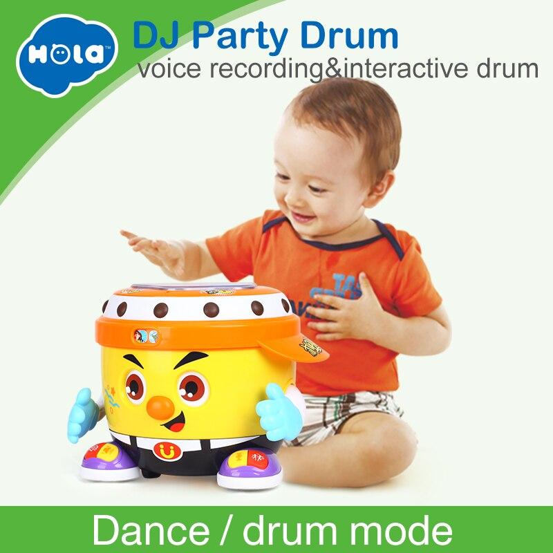HUILE JOUETS 6107 Bébé Jouet DJ Partie Tambour Jouet avec La Musique et Lumière D'apprentissage Jouets Éducatifs pour Enfants
