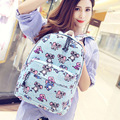 Animal Printing Student's School Bags Women's Preppy Style Bags Casual Canvas Backpacks for Junior & Senior School Girls