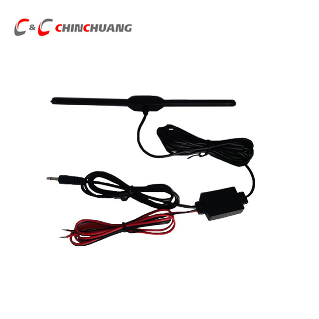 Hot !!! Car Analog TV Antenna with DC 3.5 Connector, Booster Amplifier for Car DVD Player Radio GPS TV Box Aerial, Free shipping