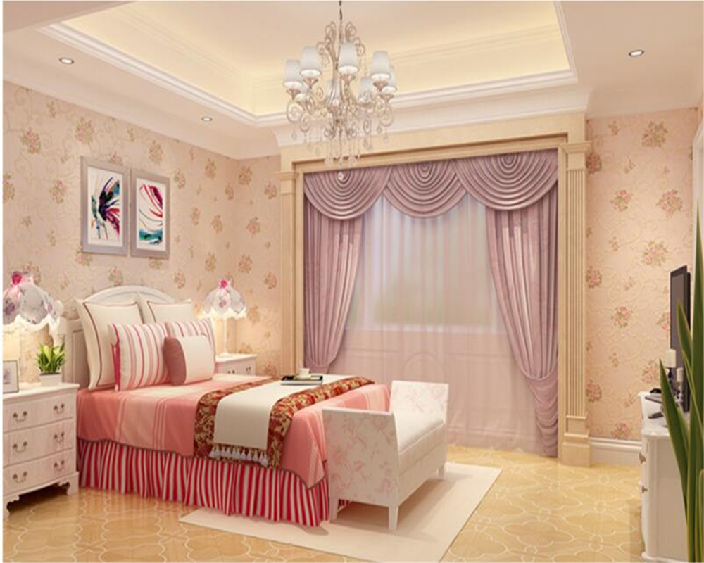 beibehang American non - woven TV background high - end pastoral European - style flowers wallpaper papel de parede wall paper beibehang european pastoral flowers