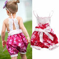 Fashion Infant Kids Baby Girl Floral Romper Jumpsuit Strap Lace Newborn Summer Clothes
