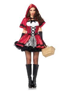 Image 2 - 성인 여성 할로윈 클래식 작은 빨간 승마 후드 의상 환타지아 카니발 파티 코스프레 멋진 복장 복장