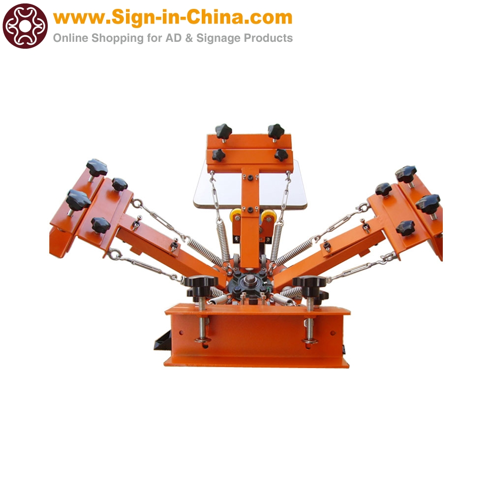 4 Color 1 Station Silk Screen Printing Machine 4 1 Press