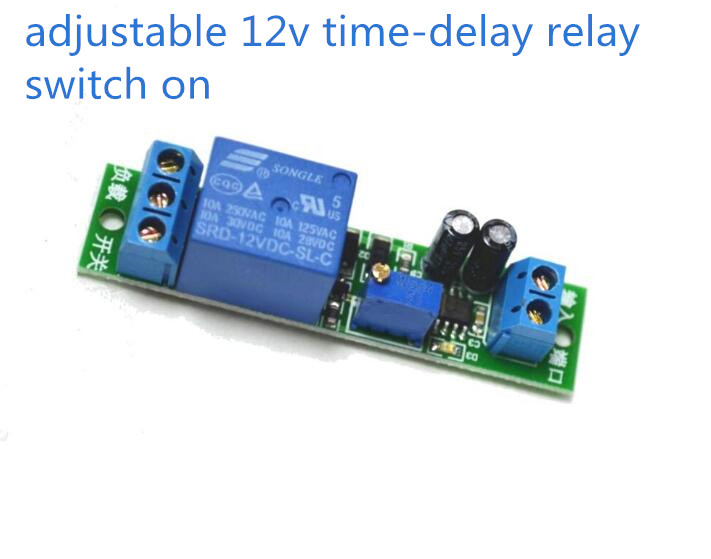 DC 12V NE555 Adjustable Delay Timer Relay Time Relay Module Time Delay For Switch On For Robot & Intelligent Car DIY Electronic