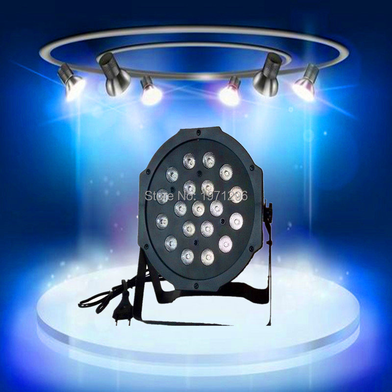 ФОТО 19x 3W RGB DMX Stage Lights Business Led Flat Par  Power Light with Professional for Party KTV Disco DJ