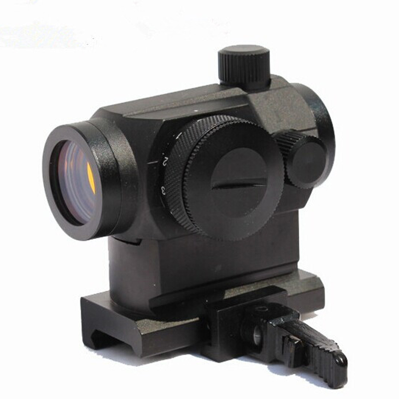 Tactical Rifescope Sight Illuminated Electro Green & Red Dot Sight Scope with Quick Release Red Dot Scope Mount for Hunting 1 x 33mm red green light dot bird sight scope for dslr black 1 x cr2032
