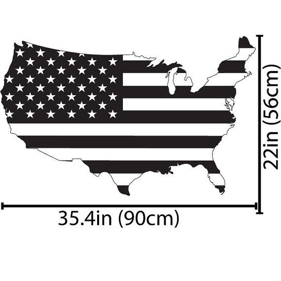 Aliexpresscom Buy United States Flag USA Map Wall Decal Art - Us map wall decal