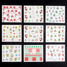 WUF 48 Vellen DIY Kerst Ontwerp Mode Water Transfer Sticker Nail Art Decals Manicure Styling Tools(China)
