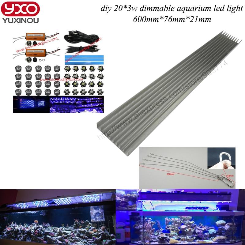 diy 60W marine aquarium diimable led aquarium lighting 20*3W Round LED aquarium lights LED Lights for marine coral reef tank