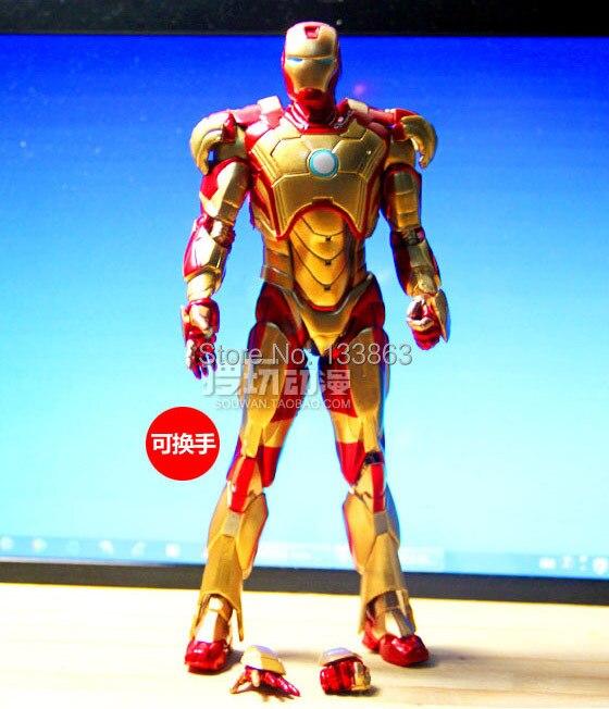 En Gros Pour Nouveau Iron Man 3 D Or Couleur Action Figure Superhero