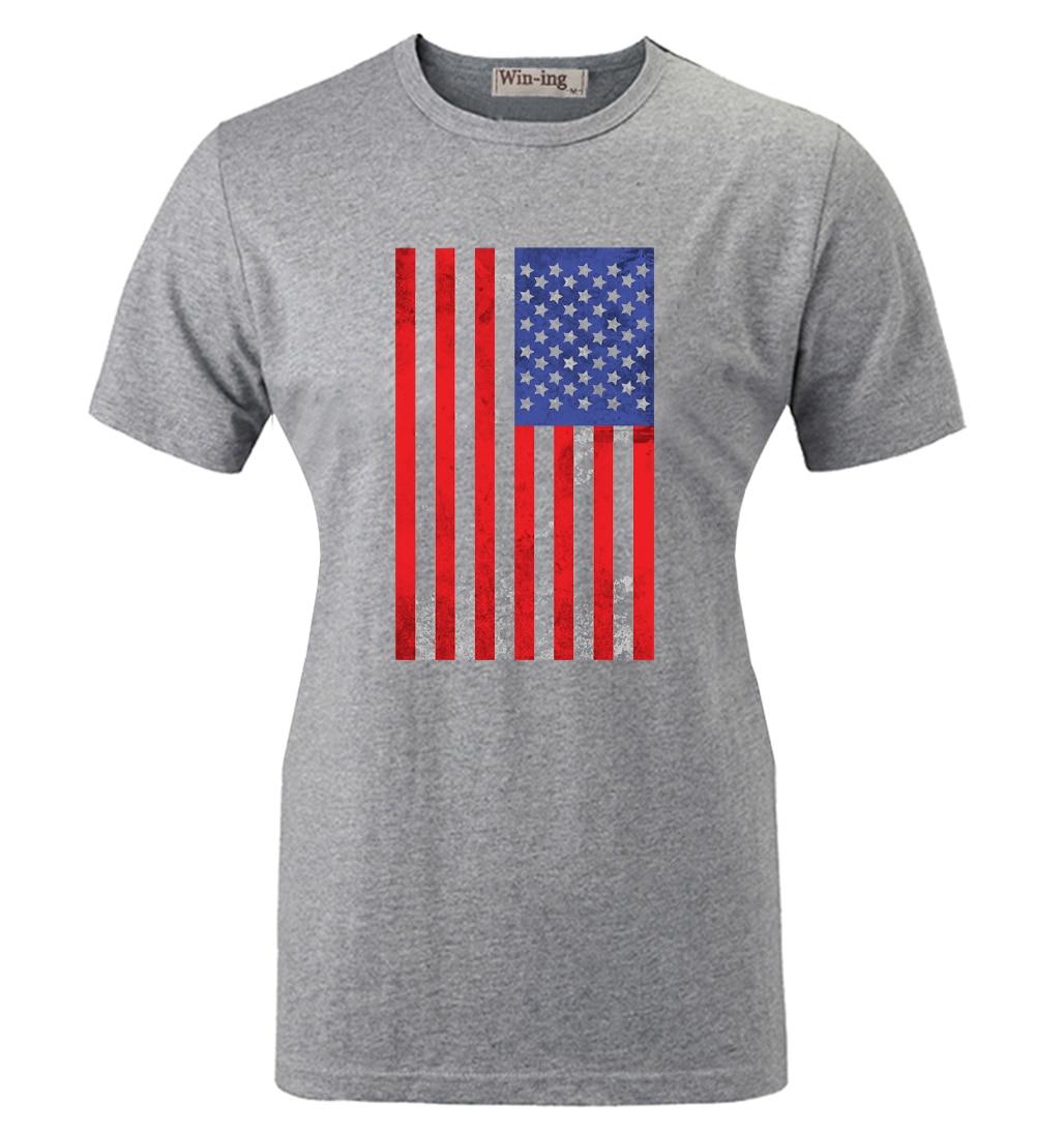 282b3eb5665dd Été mode Casual coton col rond T-shirt drapeau américain rétro Art  graphique femmes fille manches courtes T - shirt Tops