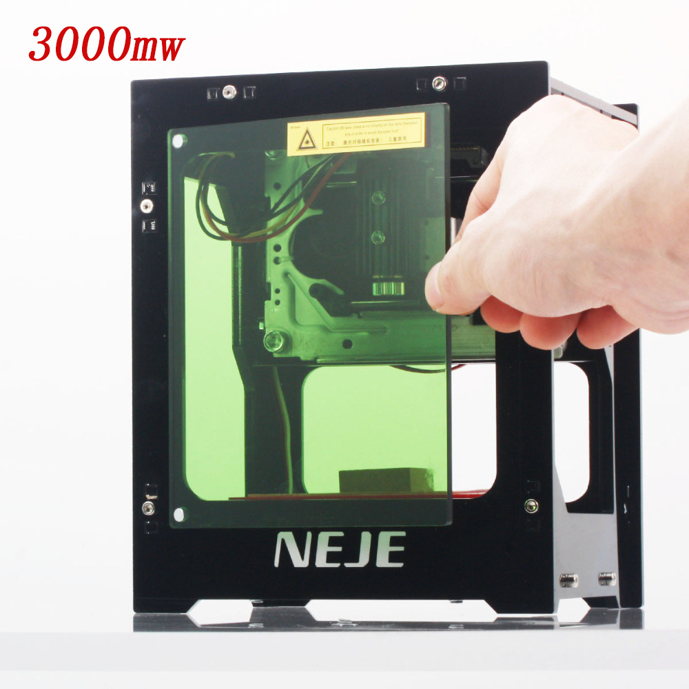 2019 Hot Selling NEJE DK-BL 445nm 3000mw High Power DIY Mini Cnc Bluetooth Laser Engraver Router Machine For Depth Engraving