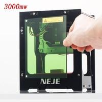 2019 hot selling NEJE DK BL 445nm 3000mw high power DIY mini cnc bluetooth laser engraver router machine for depth engraving