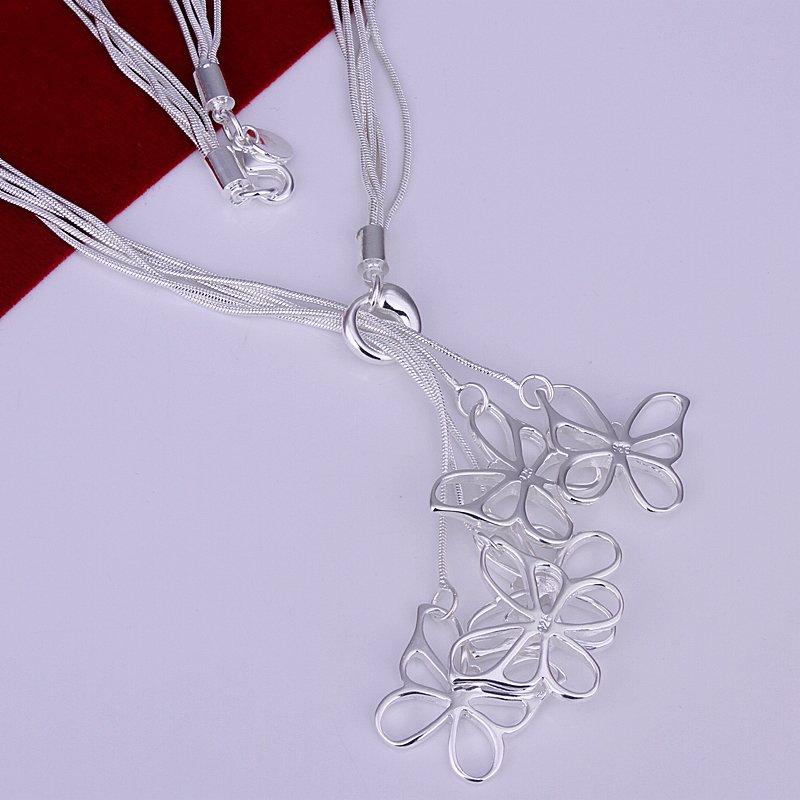 73f1606fb4f N099 Cinco Borboleta Preço De Fábrica Frete grátis 925 necklace. fashion  jóias colar