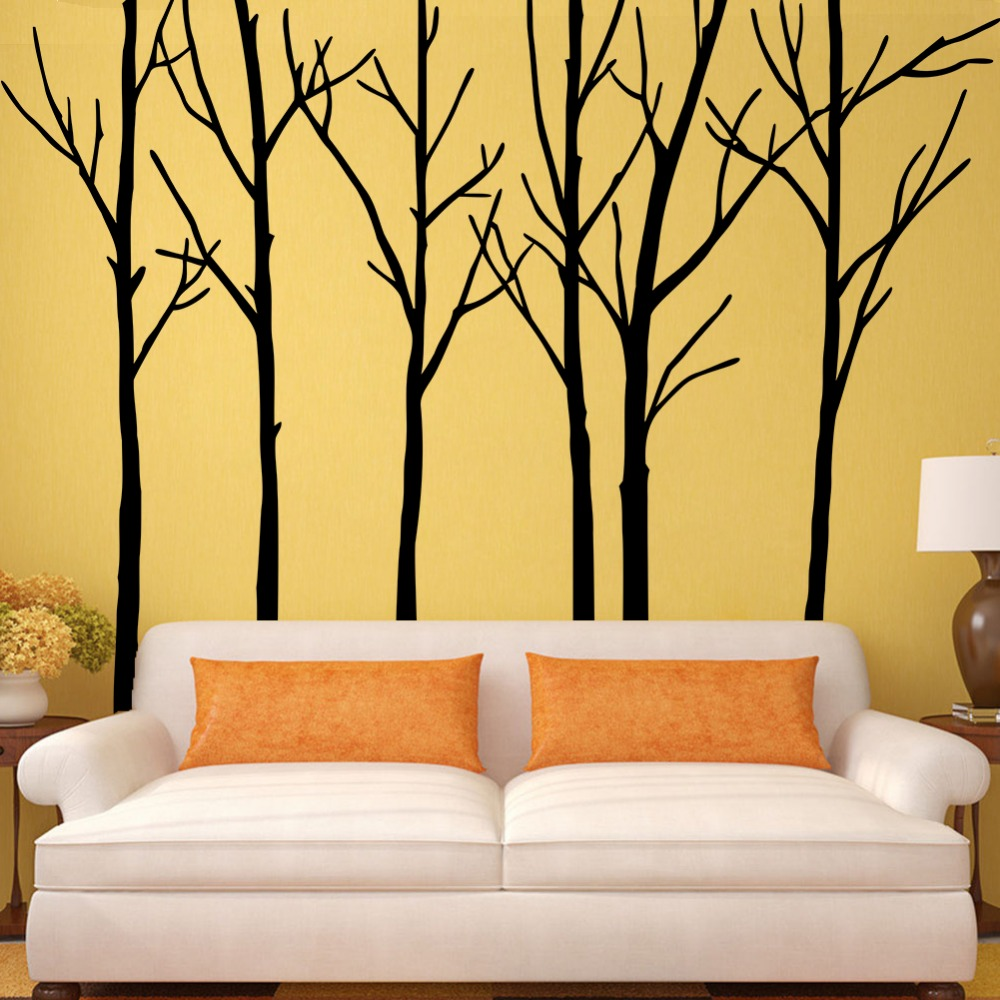 Magnificent Stick On Wall Art Trees Embellishment - The Wall Art ...