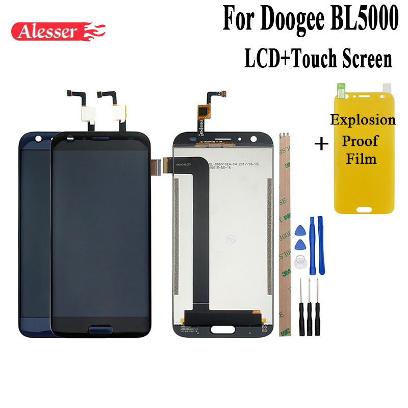 Alesser For doogee BL5000 LCD Display and Touch Screen Assembly Repair Parts 5.5 Inch Replacement +Tools +Film For doogee BL5000Alesser For doogee BL5000 LCD Display and Touch Screen Assembly Repair Parts 5.5 Inch Replacement +Tools +Film For doogee BL5000
