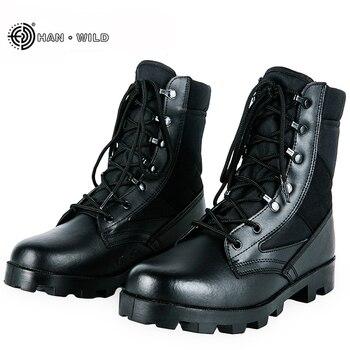 abf92c416b7 2017 botas tácticas de invierno para hombre, botas de combate militares de  camuflaje transpirables, zapatos de seguridad del desierto del ejército