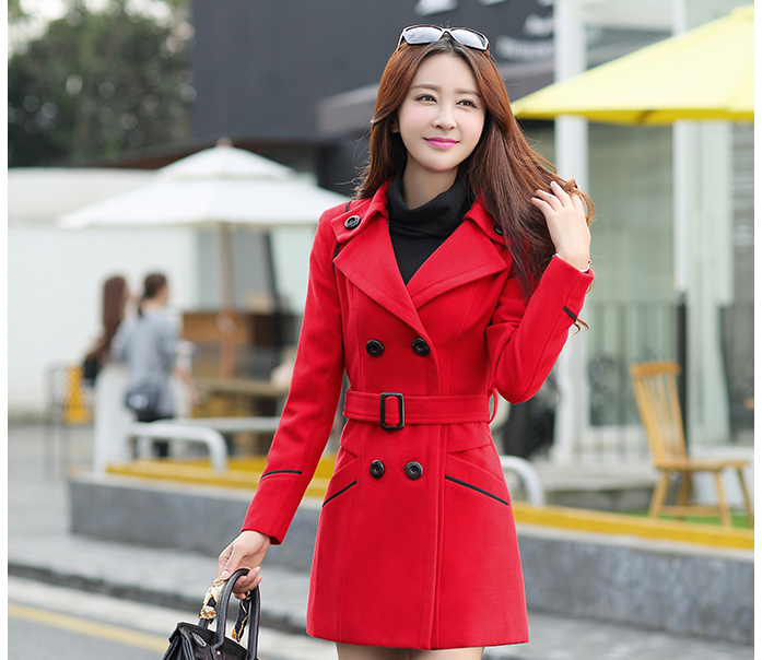 YAGENZ M-3XL Autumn Winter Wool Jacket Women Double Breasted Coats Elegant Overcoat Basic Coat Pockets Woolen Long Coat Top 200 12