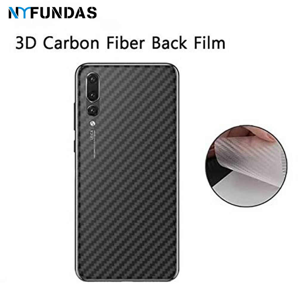 3D Carbon Fiber Rear Screen Protector For Huawei Mate 30 20 P30 P20 pro lite X Film Protection Protective Back Cover Accessorie