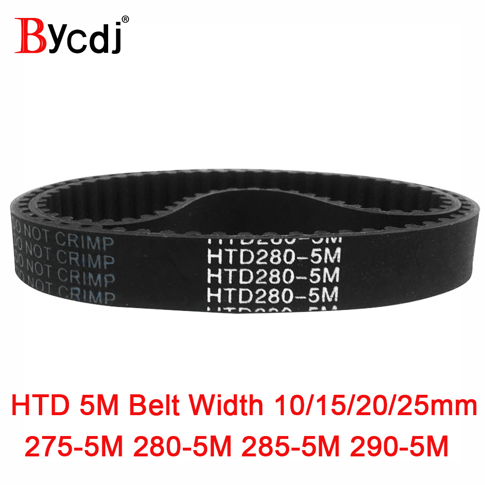 Arc HTD 5M Timing belt C=275/280/285/290 width10/15/20/25mm Teeth 55 56 57 58 <font><b>HTD5M</b></font> synchronous Belt 275-5M 280-5M 285-5M 290-5 image