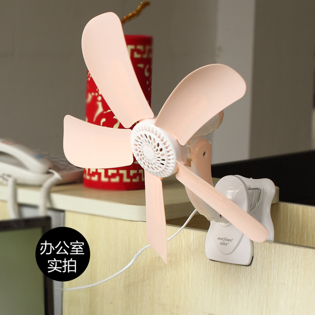 Beautiful Poetry Children Home Fans Dormitory Silent Fan Office Small Clip Portable