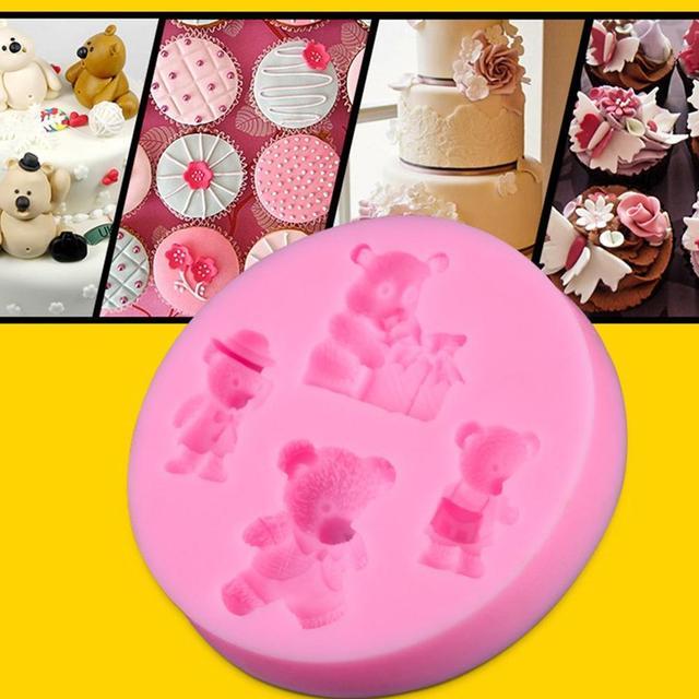 Bears fondant cakevorm siliconen mal cake decoratie bakken gereedschap DIY cakevorm