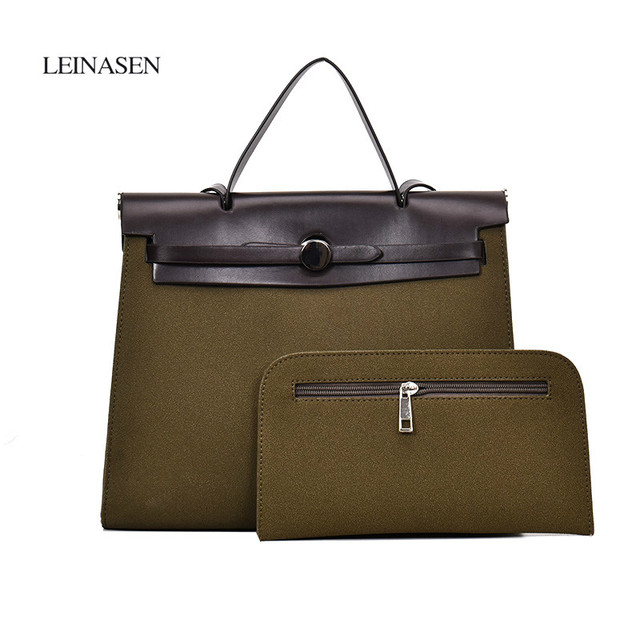 5959197ac374 Women Briefcase European Big Work Hand Bag Two Fashion Vintage Business  Office Lady Solid Color Messenger